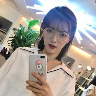女款近视0-400度潮个性六边形眼镜框韩版复古文艺网红八角平光镜