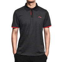 Li Ning sports polo shirt men's short-sleeved lapel t-shirt summer breathable and quick-drying shirt badminton training clothing