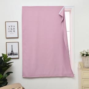 简易免打孔安装粘帖式魔术贴窗帘遮光布平面窗出租房定制隔音遮阳