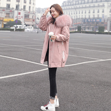 Dongdaemun x2 down jacket women's long section 2018 new winter popular white duck down large fur collar net red jacket