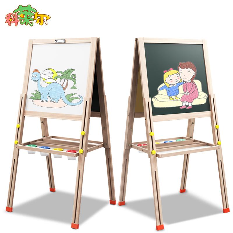 宝宝画板双面磁性小黑板支架式家用儿童可升降画架白板涂鸦写字板