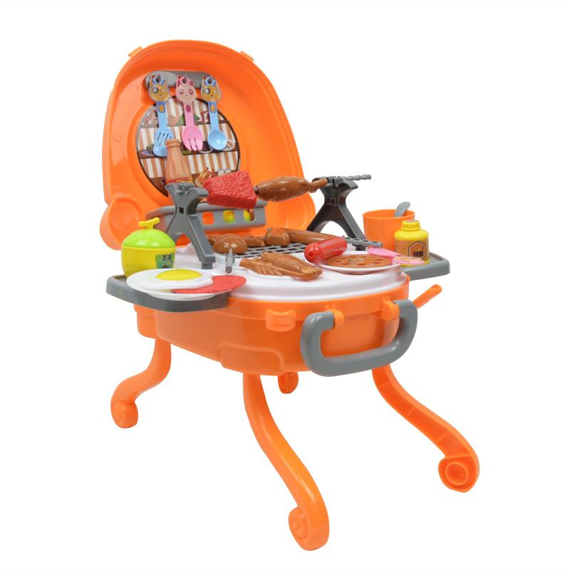 仿真厨房类儿童烧烤串BBQ玩具套装 冰淇淋套装过家家户外儿童玩具