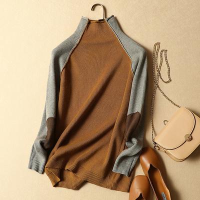 半高领毛衣女秋冬装2018新款韩版宽松套头加厚短款长袖针织打底衫