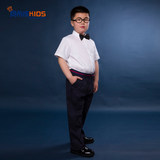 Boy's Dress Suit Extended Edition Fat Children's Wedding Flower and Child Performance Dress Presenter's School Dress Class Dress