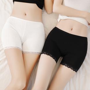 无痕薄款 安全裤 防走光女夏天蕾丝可内外穿冰丝三分保险短裤 打底裤
