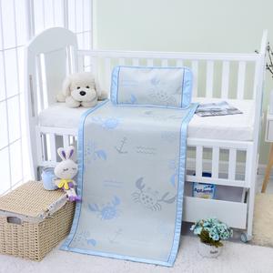 婴儿冰丝凉席卡通席子儿童幼儿园专用午睡席宝宝床席子枕头定制