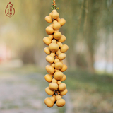 natural big gourd place collectables - autograph hand twist with small gourd hang feng shui home a sitting room with medallion in hand
