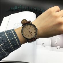 手表男學生韓版簡約潮流ulzzang手表女時尚皮帶休閑情侶石英表