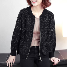Short jacket for women in autumn 2019 new baseball dress for middle-aged and old mothers