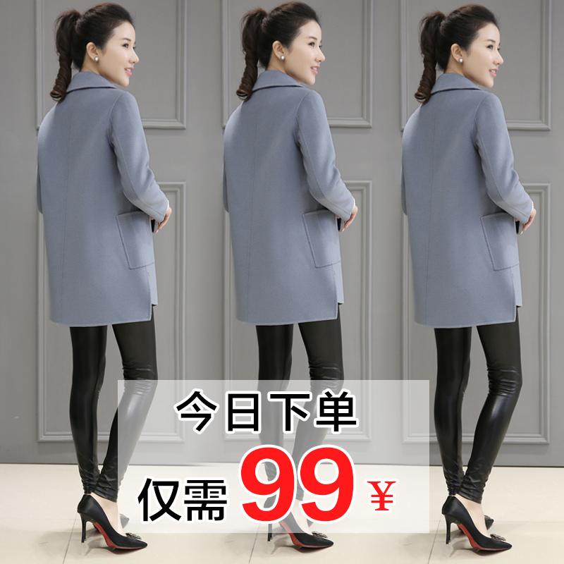 加厚 毛呢外套短款 冬装 韩国修身 2017新款 小矮个子呢子大衣女中长款