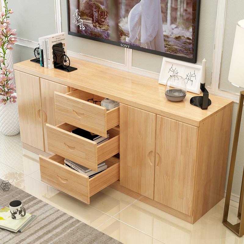 实木电视柜现代简约小户型客厅电视柜新中式电视柜卧室储物柜地柜