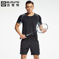 2019 new summer short-sleeved badminton clothing suit men's quick-drying breathable badminton sportswear shorts ball clothes