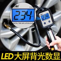 胎压表高精度汽车胎压计轮胎监测气压表带充气电子数显加气打气枪