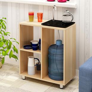 原木茶水柜 办公室饮水机柜 纯净水桶柜厨房餐边柜储物柜茶柜包邮