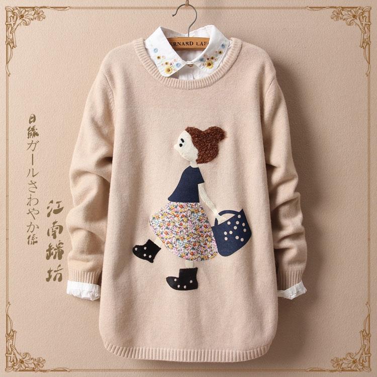 羊毛衫女韩版学生