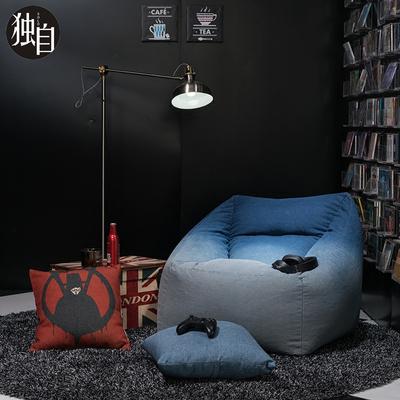 懒人沙发榻榻米牛仔单人沙发椅现代简约懒人椅创意卧室小户型沙发