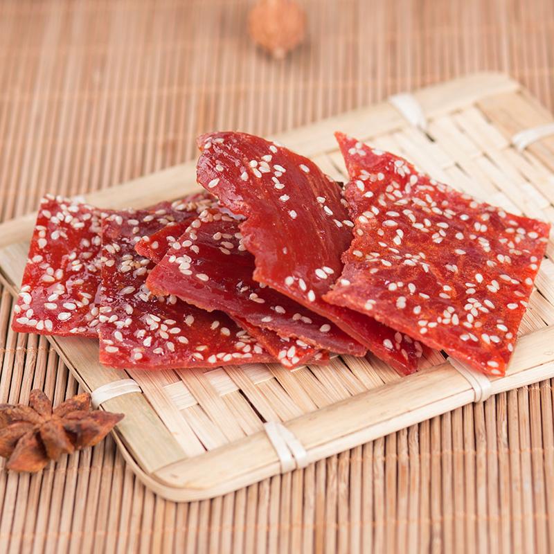 靖江猪肉脯200g副片自然片蜜汁肉类美食休闲零食熟食肉干特产小吃,网红进口零食猪肉脯