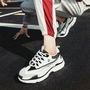 2018新款男鞋秋季鞋子男冬季老爹棉鞋运动休闲鞋潮鞋百搭小白鞋男