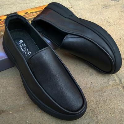 佐罗公牛男鞋新款男士商务休闲皮鞋真皮头层牛皮软底软面套脚鞋子