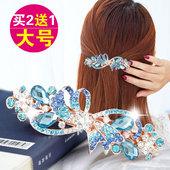 韩国发夹马尾夹大号弹簧夹百搭淑女发卡水钻横夹蝴蝶结饰品头饰女