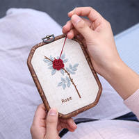 Sheep class embroidery DIY hand-made embroidery material package self-embroidering time adult beginner creative fabric