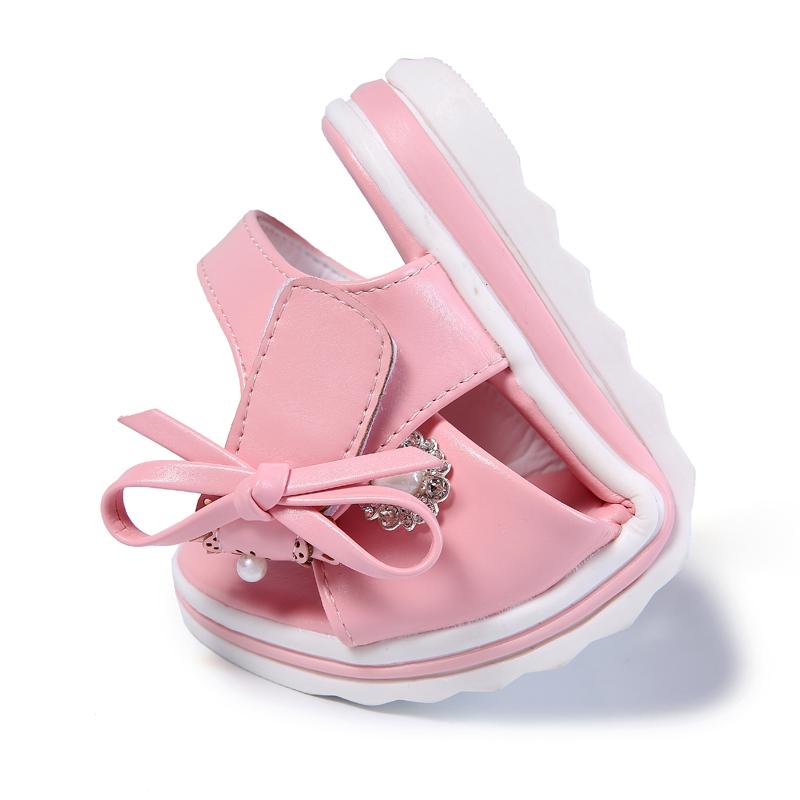 女童凉鞋夏季公主鞋韩版2018新款小女孩软底中大童真皮儿童学生鞋