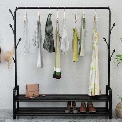 晾衣架落地折叠室内单杆式晒衣架卧室挂衣架家用简易凉衣服的架子