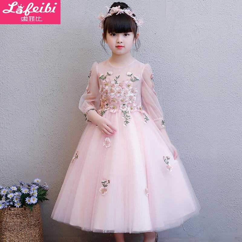 童绣花礼服裙