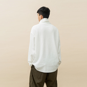 SHIRT 华夫格高领落肩长袖 OPICLOTH 18AW TURTLENECK OPIC