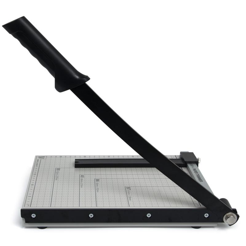 得力裁纸机8014照片切割机裁纸刀A4切纸刀手动相片切刀小型照片裁剪器钢制多功能名片切割机