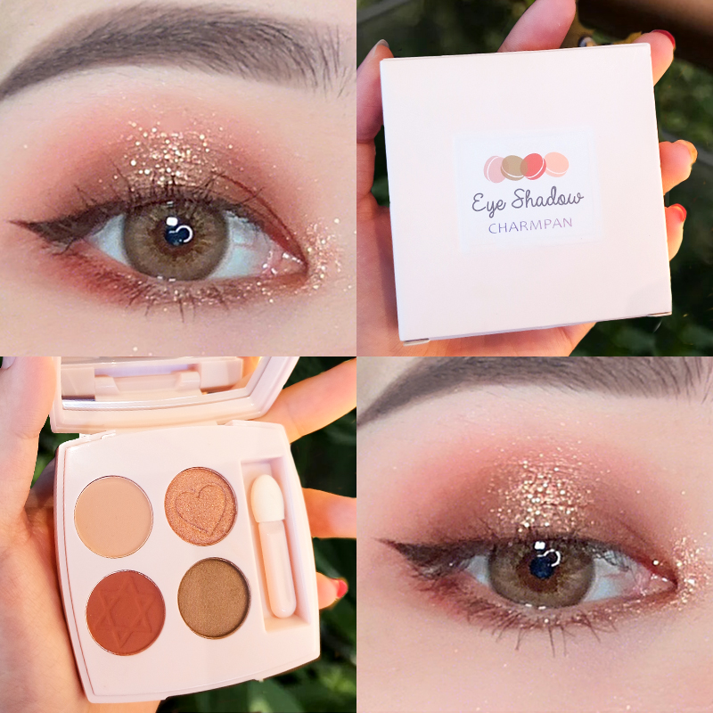 Beauty & Health Beauty Essentials 9 Color Eye Shadow Disc High Light Repair Capacity Eye Shadow Disc Eyeshadow Flash Powder Plate Lazy Pearlescent Matte Beginner Keep You Fit All The Time