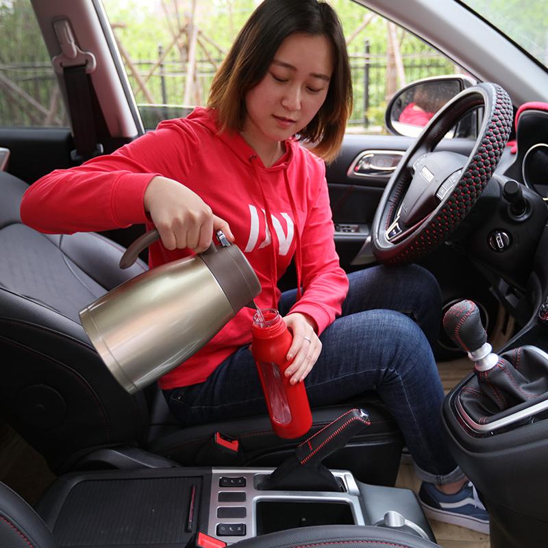 车载烧水壶100度12V24V通用烧开水小轿车货车汽车热水器电热水壶