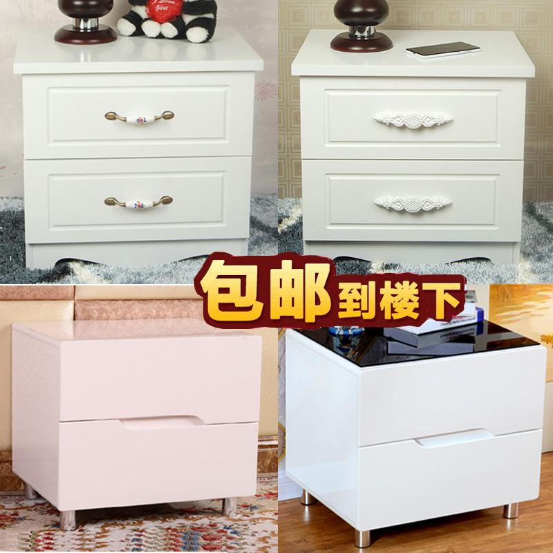 实木烤漆床头柜