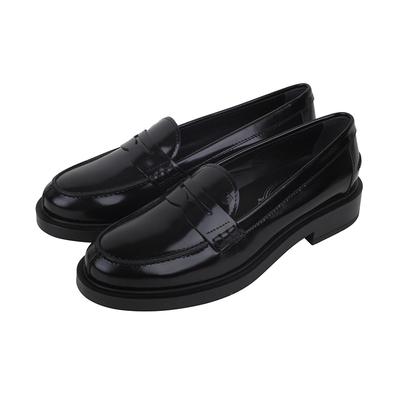 正品Tod's托德斯女鞋女士经典款时尚真皮一脚蹬黑色休闲皮鞋SS