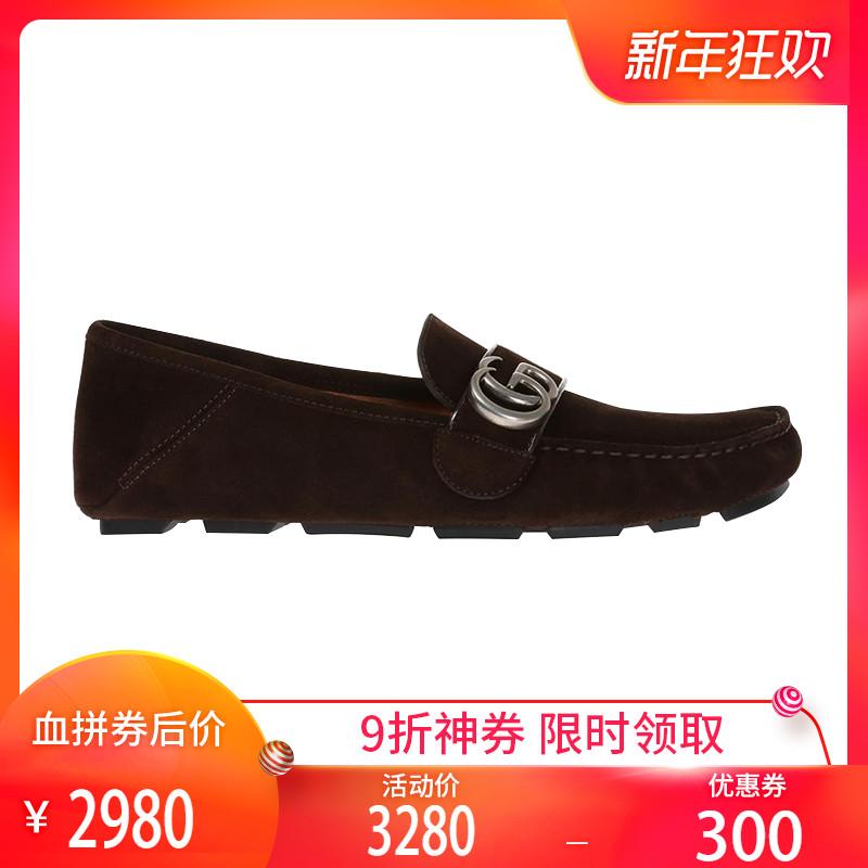 正品Gucci/古奇男鞋酷奇懒人鞋莫卡森皮鞋古驰男士休闲豆豆鞋YS