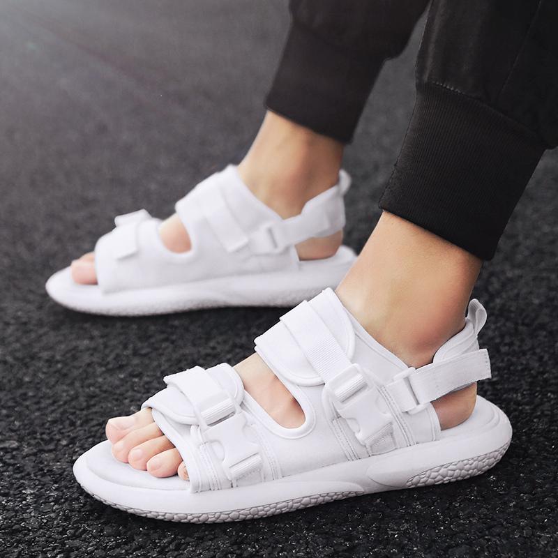 男凉鞋白色