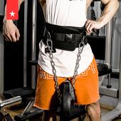 劳拉之星引体向上负重腰带腰部力量训练加粗铁链双杠健身房杠铃片