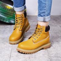 飞力步秋冬新款靴男工装马丁靴女鞋短靴子学生英伦风复古情侣款鞋