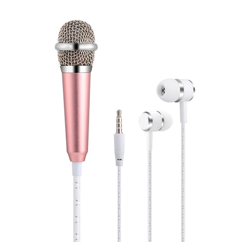 迷你手机麦克风全民k歌神器电容麦苹果安卓全能通用儿童小话筒全名ktv唱歌自带耳机一体专用直播声卡设备套装