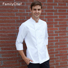 Hotel Chef's Clothes Summer Short-sleeved Pure White Breathable Double-breasted Kitchen Workwear Canteen Restaurant Black Collar