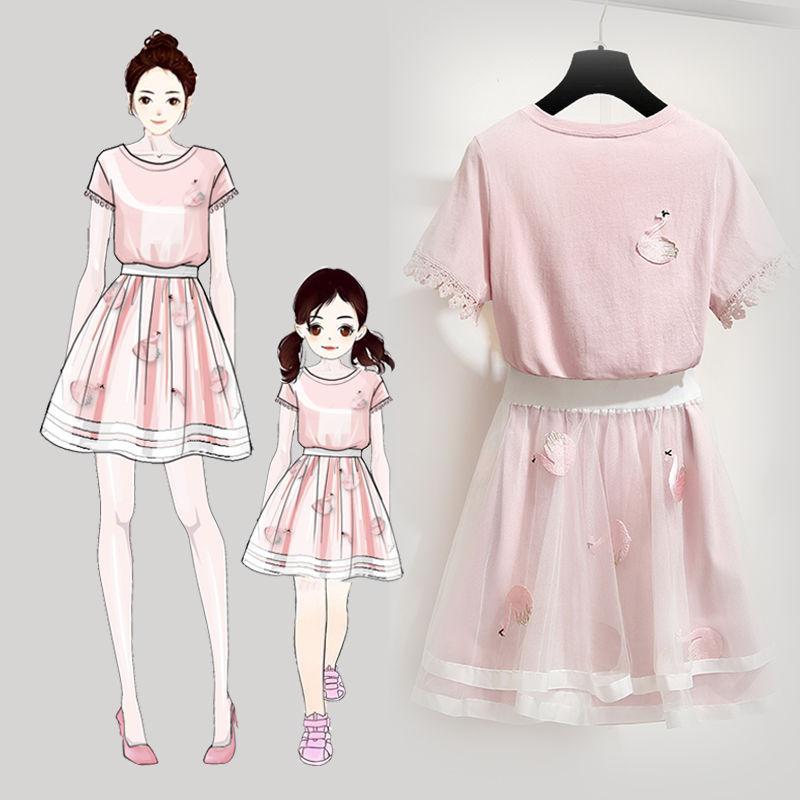 公主裙网红时尚裙装夏装母女连衣裙