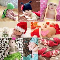 新生婴儿摄影衣服儿童宝宝满月百天影楼拍照框帽子服装创意背景布