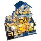 Diy cottage villa Aegean handmade small house model toy assembled creative birthday gift girl