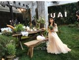MORIGIRL Sen retro travel shoot light wedding dress simple bridesmaid dress graduation real-word shoulder-strap dress