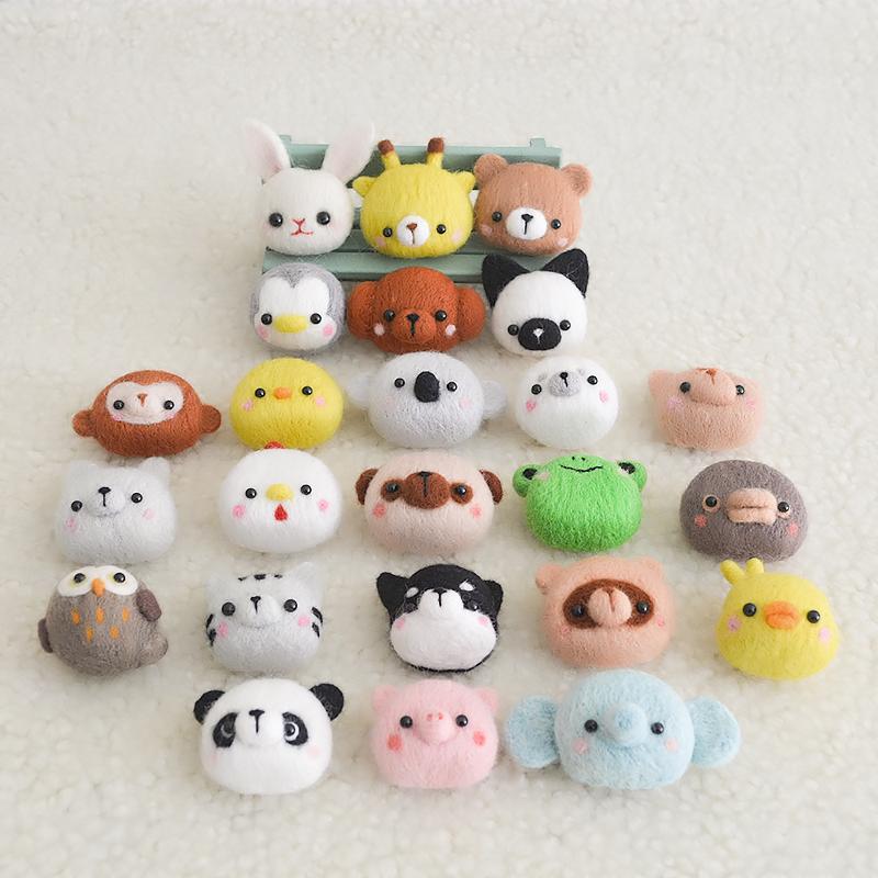 戳戳秀 买一送一羊毛毡戳戳乐手工diy动物制作新手玩偶公仔材料包