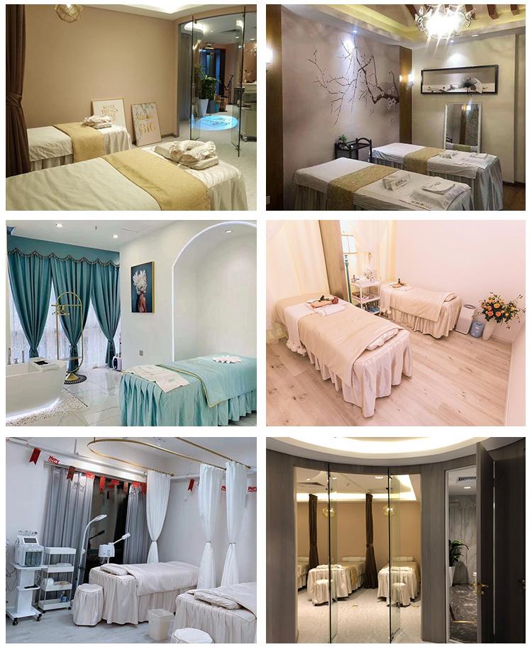 美容床罩四件套高档美容院专用按摩床罩欧式奢华美容床罩定做