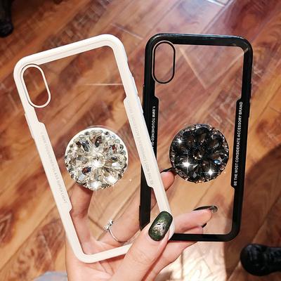 奢华水钻苹果X手机壳iphone xs max全包软壳苹果8plus创意个性情侣男女款7plus新款6splus防摔XR保护套6s