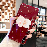 The birth year cute cartoon pig new year apple X mobile phone shell wine red iphone xs max all inclusive soft shell 8plus couple 7plus anti-fall XR silicone protective cover 6splus female models