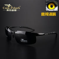 Outdoor cook shark Cook shark male polarized sunglasses driving fishing sunglasses driving driver mirror