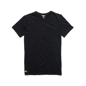 Lacoste圆领t恤 法国鳄鱼男款宽松经典基本款打底T恤3件 国际正品